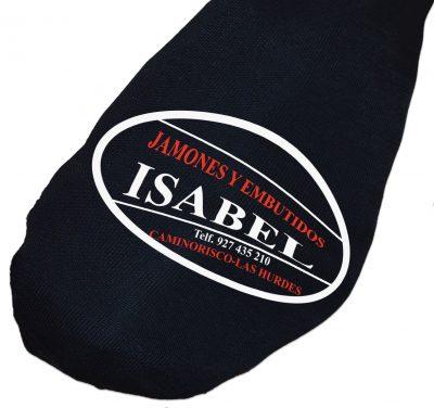 Funda de jamón negra de algodón e impresa en varios colores